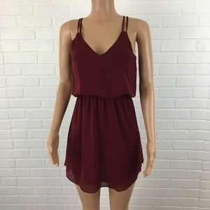 Tobi Womens Dress Size S Red V Neck Sleeveless